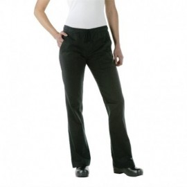 Pantalon de cuisine femme Chef Works Executive noir
