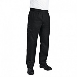 Pantalon de cuisine mixte Chef Works Slim Fit Cargo noir