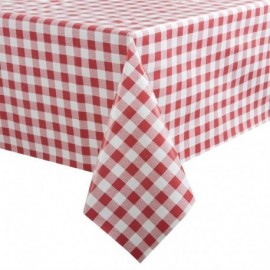 Nappe PVC à carreaux rouges 1370 x 2280mm