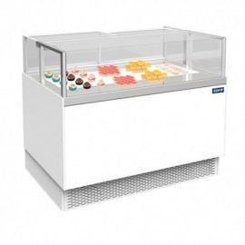 VITRINE REFRIG LAQUEE BLANC CASSIS 1200